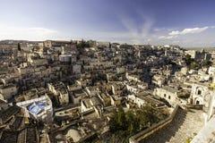Matera view from balcony Stock Photo