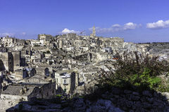 Matera view from balcony Stock Image