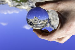 Matera view through a crystal ball Stock Image