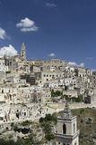 Matera. View of famous Sassi di Matera, Italy Royalty Free Stock Photos