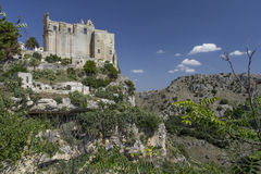 Matera. View of famous Sassi di Matera, Italy Royalty Free Stock Images
