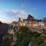 Matera, view of Sasso Caveoso royalty free stock photography