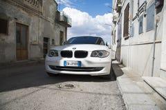 Matera, Włochy Lipiec 26 2017 prywatny samochód 1 bmw serii Fotografie dalej Zdjęcie Stock