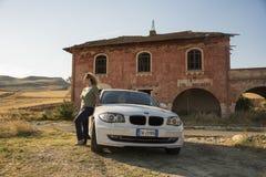 Matera, Włochy Lipiec 30 2017 Prywatny Samochód 1 bmw serii kraj Zdjęcia Stock