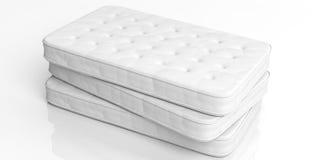 materassi della rappresentazione 3d su fondo bianco Immagini Stock
