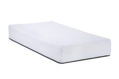 Materasso molle ortopedico per il sonno isolato su fondo bianco fotografia stock libera da diritti