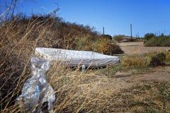 Materasso senza casa Fotografie Stock