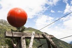 Materiële kabelmanier voor de levering van de berghut Royalty-vrije Stock Afbeelding