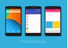 Materiële ontwerptelefoon lolipop Stock Foto