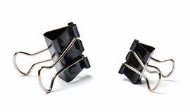 Materiałów clothespins wielki mały Biały odosobniony tło Zakończenie obrazy royalty free