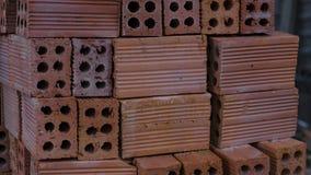 Materiał budowlany cegły brogować na barłogu! zdjęcie stock