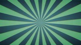 Materiał filmowy animujący tło zieleni promienie loopable 4k wideo ilustracja wektor