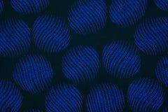 Materiał w błękitnych okręgach, tekstylny tło Obraz Royalty Free