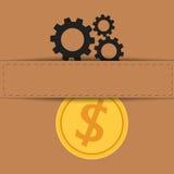Materiał wymiana pieniądze Fotografia Stock