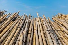 Materiału budowlanego bambus Zdjęcia Royalty Free