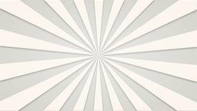 Materiału filmowego animowany tło biali wiruje promienie loopable 4k wideo ilustracji