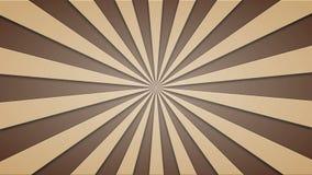 Materiału filmowego animowany tło brown promienie loopable 4k wideo ilustracji