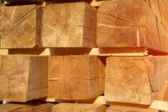 Materiały budowlani drewno i drewno barkentyna jako tex i tło Zdjęcie Stock