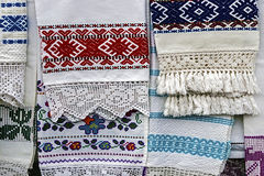 Materiały i haftujący Rumuński Fotografia Royalty Free