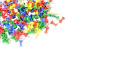 Materiały koloru szpilki Używać w biurze zdjęcie stock
