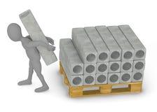 Materiał budowlany - betonowi bloki Zdjęcie Royalty Free