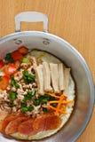 Materia calda dell'uovo fritto della vaschetta Immagine Stock