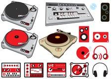 Materia de DJ Imágenes de archivo libres de regalías