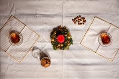 Materia de la Navidad tiro hecho con la profundidad del shalow del campo selectivo Fotografía de archivo libre de regalías