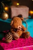 Materia de la Navidad tiro hecho con la profundidad del shalow del campo selectivo Imagen de archivo