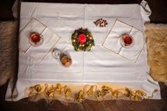 Materia de la Navidad tiro hecho con la profundidad del shalow del campo selectivo Fotos de archivo libres de regalías