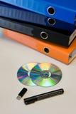 Materia de la oficina en un vector Imagen de archivo libre de regalías