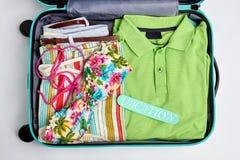 Materia de la ropa para las vacaciones de verano Fotos de archivo