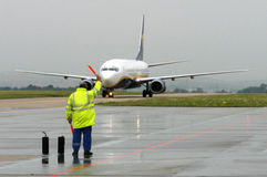 Materia del aeropuerto Fotografía de archivo