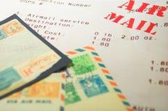 Materia del correo aéreo Foto de archivo libre de regalías