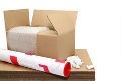 Materia del envío Imagen de archivo libre de regalías