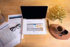 Materia del negocio en un escritorio Imagenes de archivo