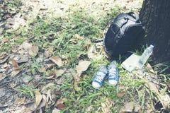 Materia del viaje en el parque Fotos de archivo