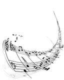 Materia delle note musicali Immagini Stock Libere da Diritti