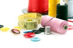 Materia di cucito fotografia stock