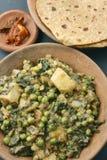 Materia di Saag è una verdura indiana del nord Immagini Stock Libere da Diritti