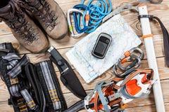 Materia el caminar y del alpinismo Fotografía de archivo libre de regalías