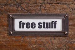 Materia libre - etiqueta del gabinete de fichero Foto de archivo libre de regalías