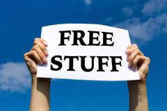 Materia libre, regalos de promoción Imagen de archivo
