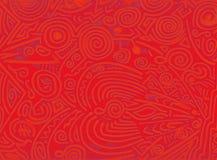 Materia orgánica abstracta del rojo anaranjado Fotos de archivo