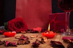 Materia preciosa para el día de tarjetas del día de San Valentín Imagenes de archivo