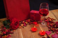 Materia preciosa para el día de tarjetas del día de San Valentín Imagen de archivo