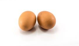 Materia prima de la comida, huevo fresco En el fondo blanco Fotografía de archivo libre de regalías