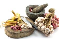 Materia prima para la comida tailandesa Imagen de archivo libre de regalías