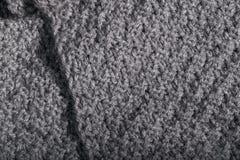 Materia textil arrugada aislada de la tela de las lanas Fotografía de archivo