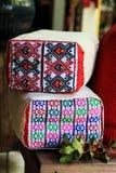 Materia textil Chiang Mai Tailandia de la almohada del algodón imagen de archivo libre de regalías